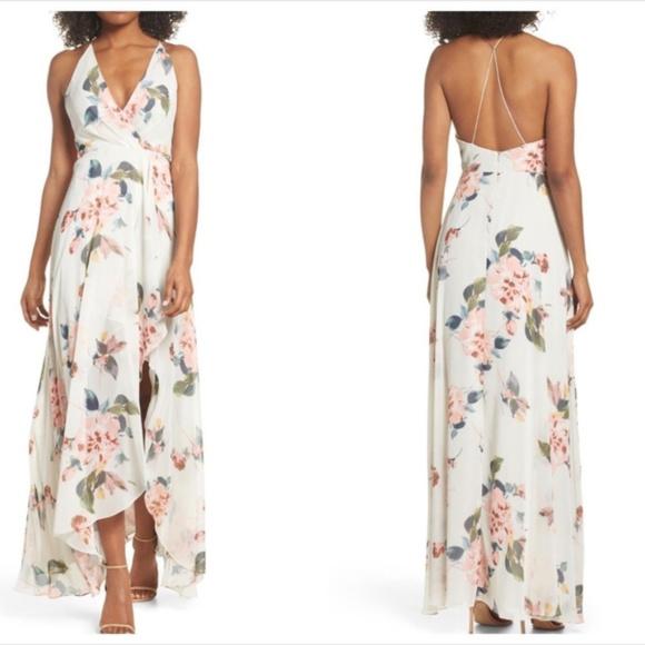 46a529aae3af Jenny Yoo Dresses & Skirts - Jenny Yoo Farrah Ohana print halter Dress gown